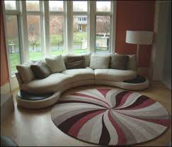 funky round area rugs for family room decorating ideas with victorian bay windows design