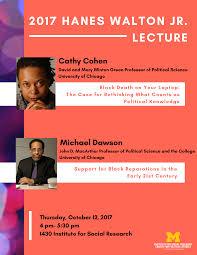 Political Event Flyer Center For Political Studies Hanes Walton Lecture