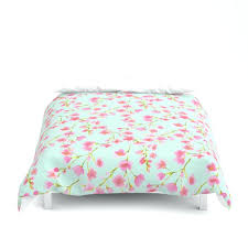 cherry blossom pink mint for duvet cover n natori