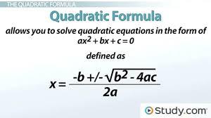solve quadratic math solving problems using the quadratic formula lesson transcript solve by quadratic formula