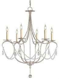 silver leaf crystal chandelier small
