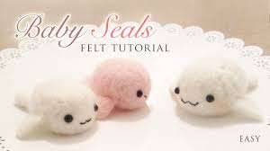 making baby seals with needle felt easy kawaii craft tutorial you