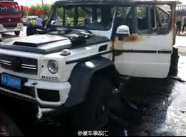 Which bought over 2100 vehicles, in a mix of 4x4 and 6x6 versions. Mansory Mercedes Benz G63 Amg 6x6 Wrecked And Burned In China Gtspirit