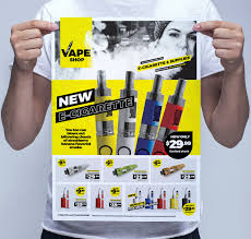 Now Open Flyer Template Vape Shop Poster Template In Psd Ai Vector Brandpacks