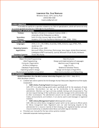 Resume Graduate Student Computer Science Career Center Sample