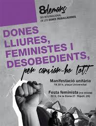 Resultat d'imatges de Manifestació dia de la dona a barcelona 2018