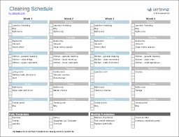 cleaning schedule printable cleaning schedule template printable house cleaning checklist