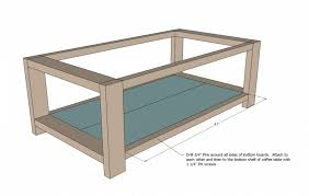 endearing brown rectangle simple wood diy coffee table plans with shelf inside