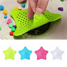 starfish hair catcher rubber bath sink strainer shower drain cover trap basin asorted colo