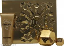 paco rabanne lady million gift set 50ml edp 100ml body lotion 5ml edp