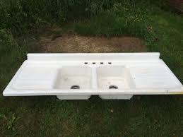 1950 vintage american standard double basin double drainboard