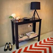 black hallway table. Hallway Entrance Table Console Hall Side Entry Display Desk Stand Wooden Black In Home \u0026 Garden, Furniture, Tables