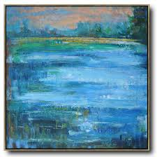 abstract landscape oil painting custom