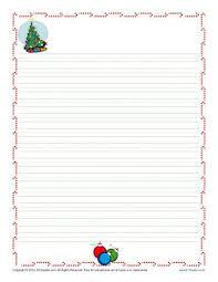 Christmas Writing Paper For Kids Free Printable Template