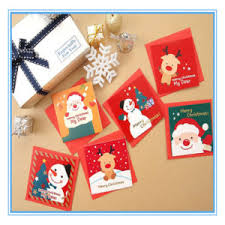Customized Christmas Decorative Folding Paper Gift Card Postcard Greeting Card