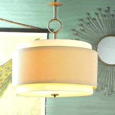 bronze metal drum pendant light shade ceiling large double lamp m