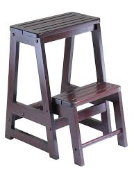 library chair step stool folding step stool in with antique walnut finish library chair step stool