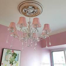 american children s room chandelier girl princess pink cloth simple european mediterranean bedroom iron crystal chandeliers boutique lights boutique