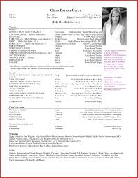 Musical Theatre Resume Musical Theatre Resume Samples Sidemcicek Theatrical Resume 88