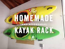 homemade affordable kayak rack
