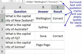 Entering Data, Text, Or Formulas With The Excel If Function