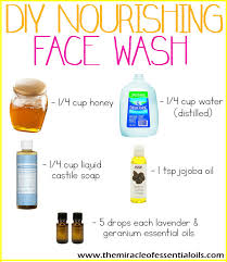 easy recipe diy essential oil face wash with nourishing honey