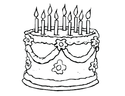 Birthday Cake Pictures To Color Free Printable Birthday Cake