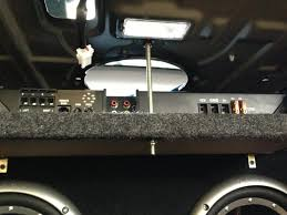 my sub install hyundai genesis forum we hung the amp from the rear deck top of the xenclosure we used a 1 4 threaded rod and nylon lock nuts and washers let s just say this nobody will be