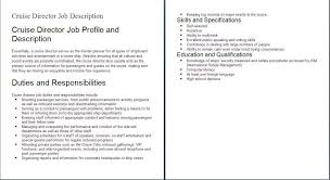 Duties Of A Cook For Resume