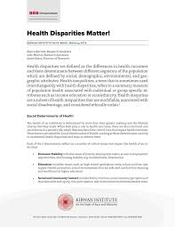 Health Disparities Matter