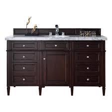 bathroom vanity no top. James Martin Signature Vanities Brittany 60 In. W Single Vanity In Burnished Mahogany With Marble Bathroom No Top