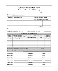Requisition Form Samples Examples Templates 10 Examples