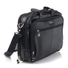 alpineswiss leather briefcase laptop case messenger bag shoulder strap portfolio 4