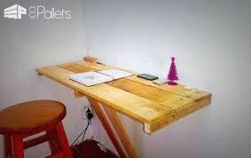 wall mounted office desk. desk homcom floating wall mount office computer mounted pallet g