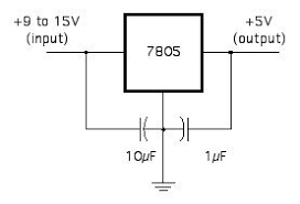 5v regulator 4 steps circuit diagram