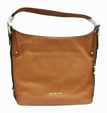 michael kors bedford belted luggage brown large leather bag 30f5gl3l 230 new