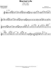 Want to take your piano playing to the next level? Gina Luciani Married Life From Up Sheet Music Flute Solo In F Major Transposable Download Print Sku Mn0181772