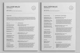 Extended Resume Template 2 Pages Resume Cv Extended Pack By Snipescientist On