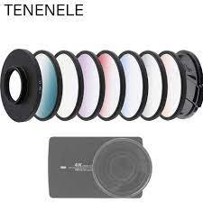 Xiao yi Spor Kamera Aksesuarları 52mm Degrade  Kırmızı/Sarı/Mavi/Yeşil/Turuncu Filtreler Kiti xiaomi Yi Lite 4 K Artı  Kamera Filtresi|Sports Camcorder Cases
