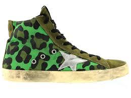 Golden Goose Shoe Size Chart Golden Goose Distressed Leopard Francy Sneakers