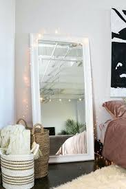 long mirror with lights for bedroom midtown loft white floor mirror fairy lights long mirror with