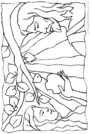 Adam And Eve Printable Coloring Pages At Getdrawingscom Free For