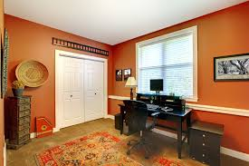 Orange home office Modern Best Colors For Home Office Kennedy Painting Picking The Perfect Paint Color For Your Home Office In St Louis