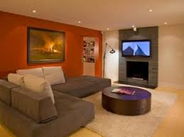 Strips of stained timber add architectural interest, and panels of bright cloth add colour. Painting A Basement Room Porch And Chimney Ever From Ideal Basement Paint Ideas Pictures