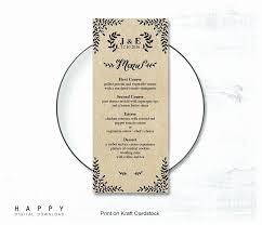 Wedding Bar Menu Template Wedding Menu Templates Free Download Word