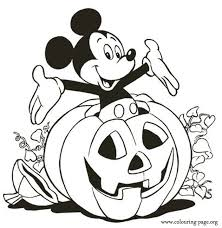 Small Picture Mickey Mouse Mickey inside a halloween pumpkin coloring page