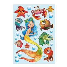 Aufkleber Set Kleine Meerjungfrau Sticker