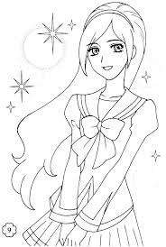 Free Anime Coloring Pages Wolf Girl Page For Girls Cute Seaahco