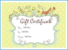 Free Printable Gift Certificate Template Word Free Printable Massage Gift Certificate Templates New