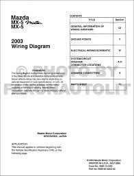 2003 mazda mx 5 miata mx 5 wiring diagram manual original